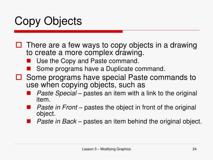 Copy Objects