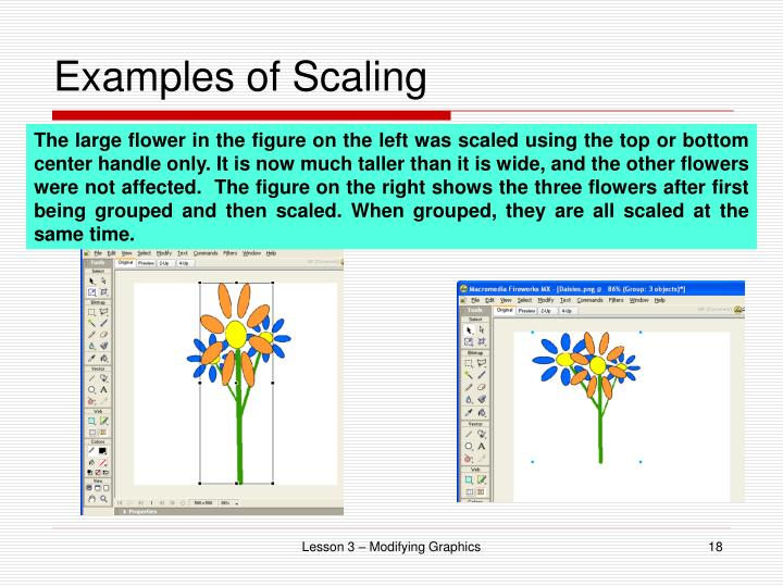 Examples of Scaling