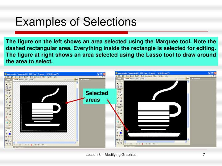 Examples of Selections