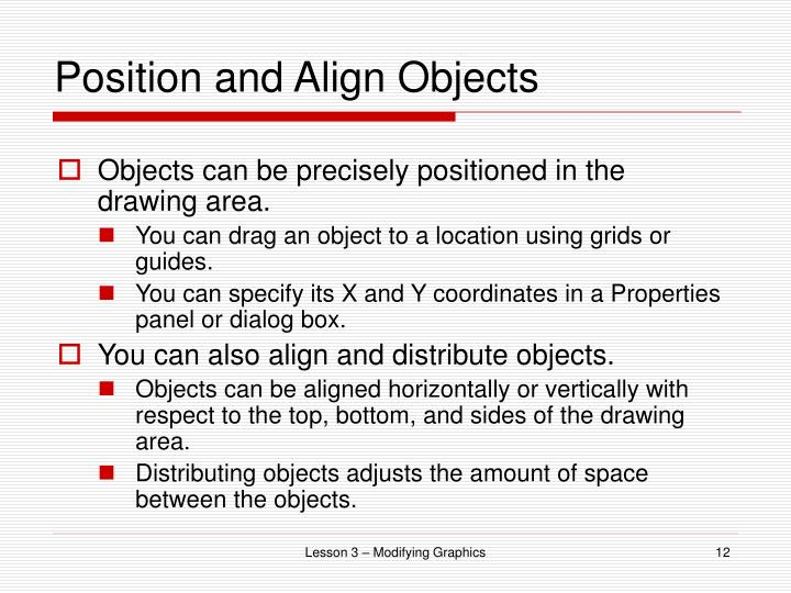 Position and Align Objects