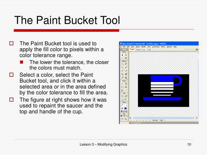 The Paint Bucket Tool
