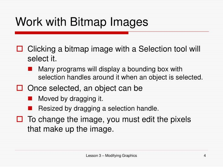 Work with Bitmap Images