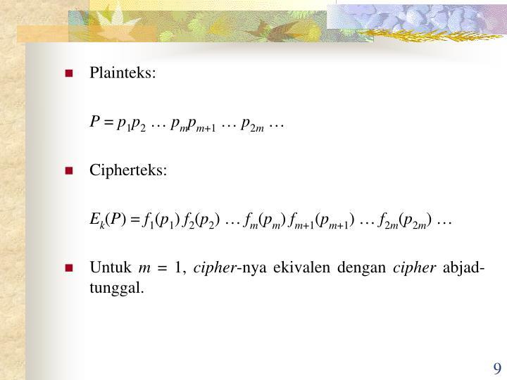 Plainteks: