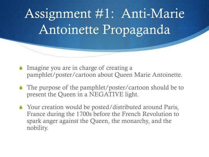marie antoinette propaganda