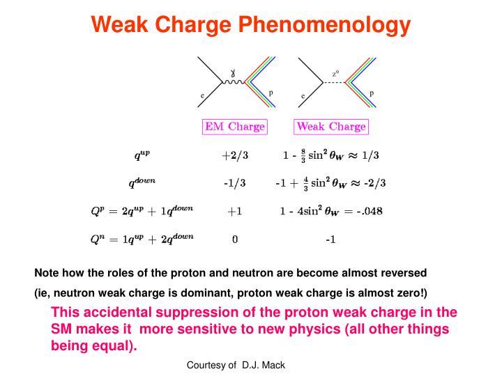Weak Charge Phenomenology
