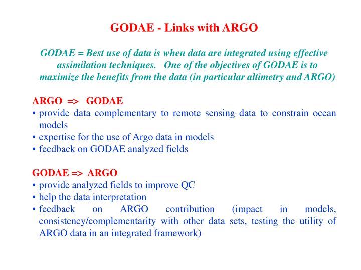 GODAE - Links with ARGO