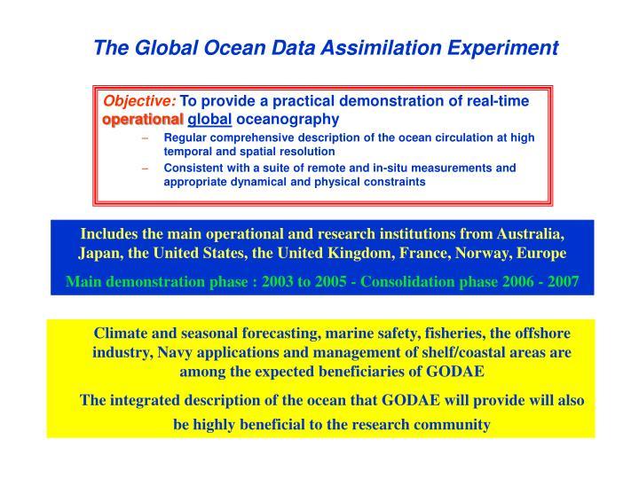 The Global Ocean Data Assimilation Experiment