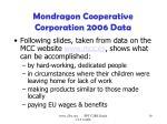 mondragon cooperative corporation 2006 data