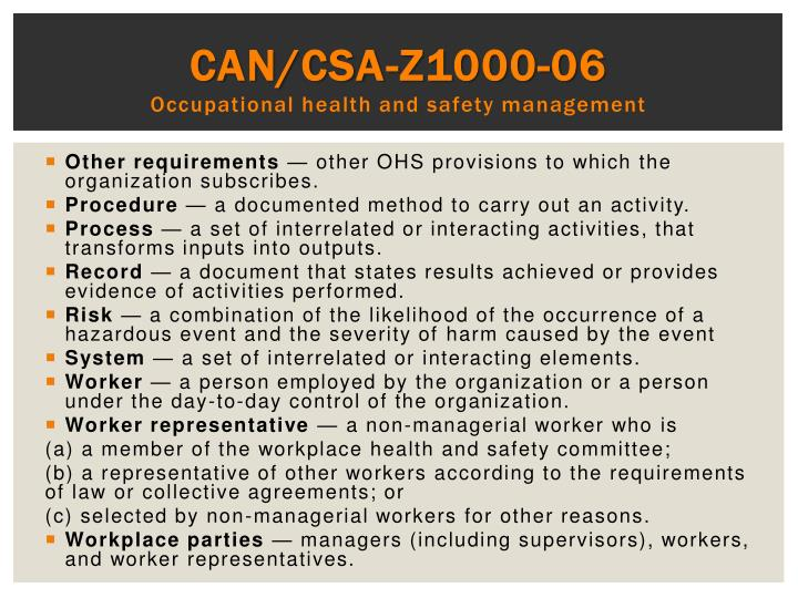 CAN/CSA-Z1000-06