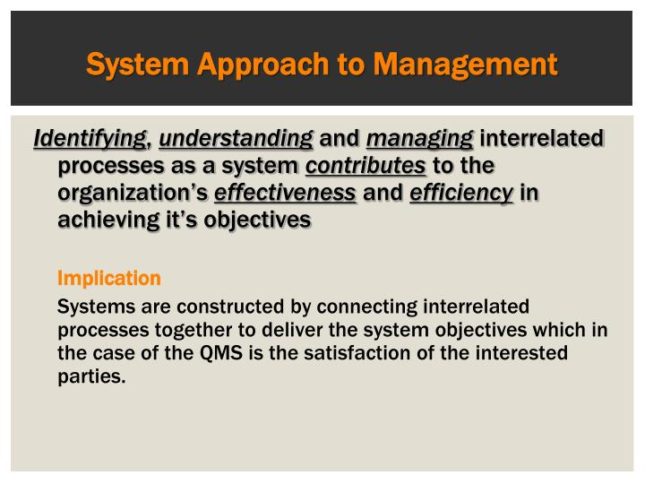 System Approach to Management
