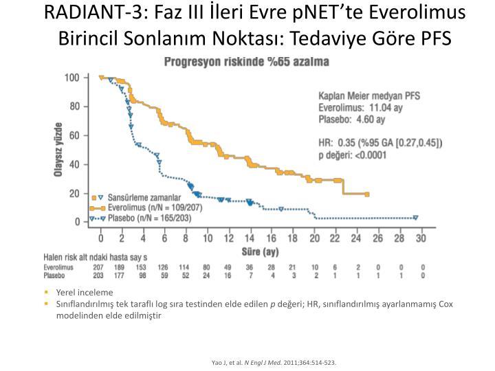 RADIANT-3: Faz III İleri Evre pNET