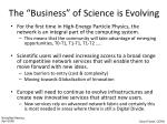 the business of science is evolving