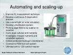 automating and scaling up