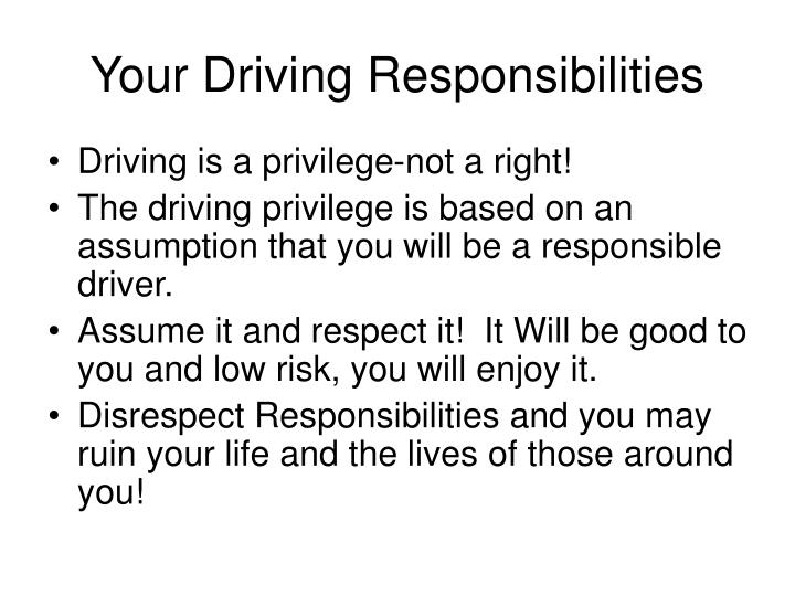 Your Driving Responsibilities