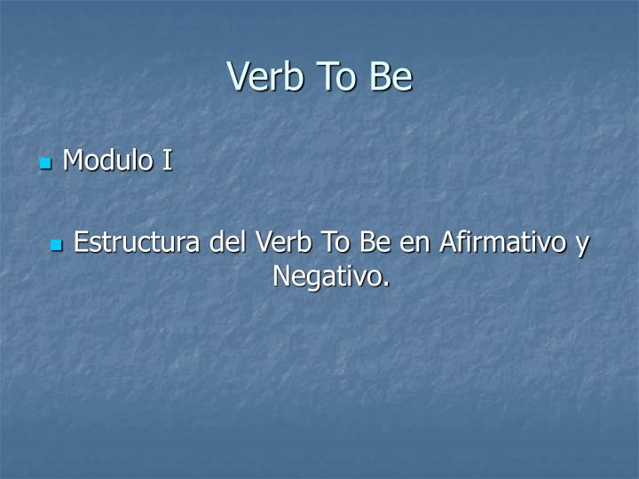 Ppt Verb To Be Powerpoint Presentation Free Download Id