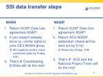 ssi data transfer steps