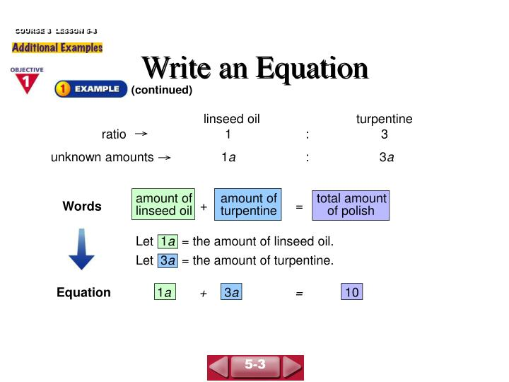 Write an equation1
