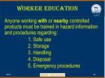 worker education