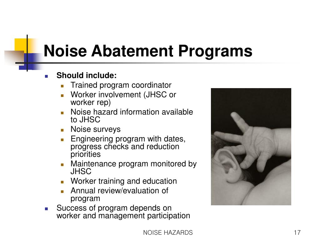 PPT - Occupational Health and Safety NOISE HAZARDS IN THE