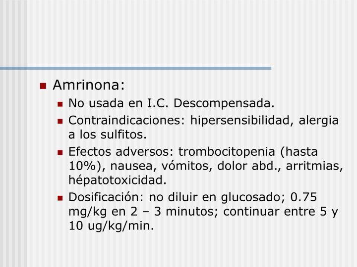 Amrinona:
