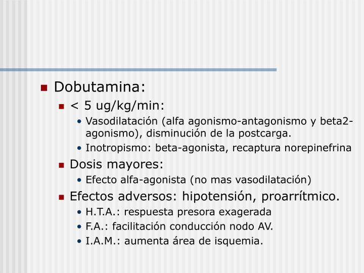 Dobutamina: