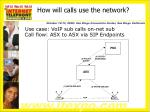 how will calls use the network