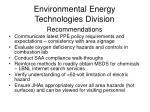 environmental energy technologies division1