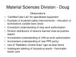 material sciences division doug