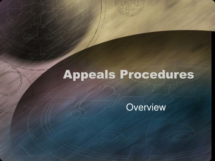 Appeals Procedures