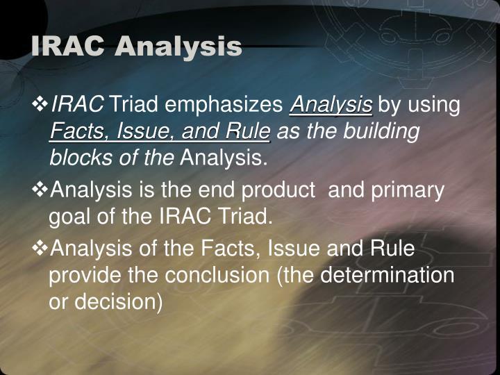 Irac analysis