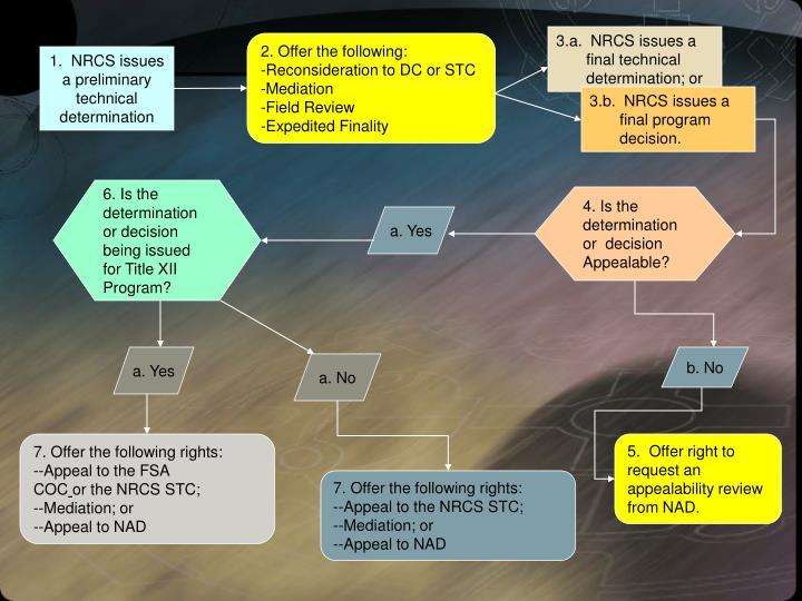 3.a.  NRCS issues a final technical determination; or
