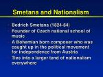 smetana and nationalism