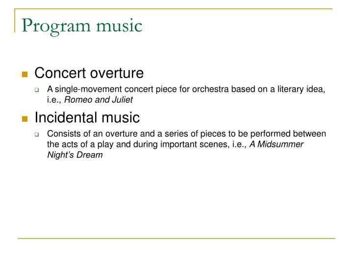 Program music