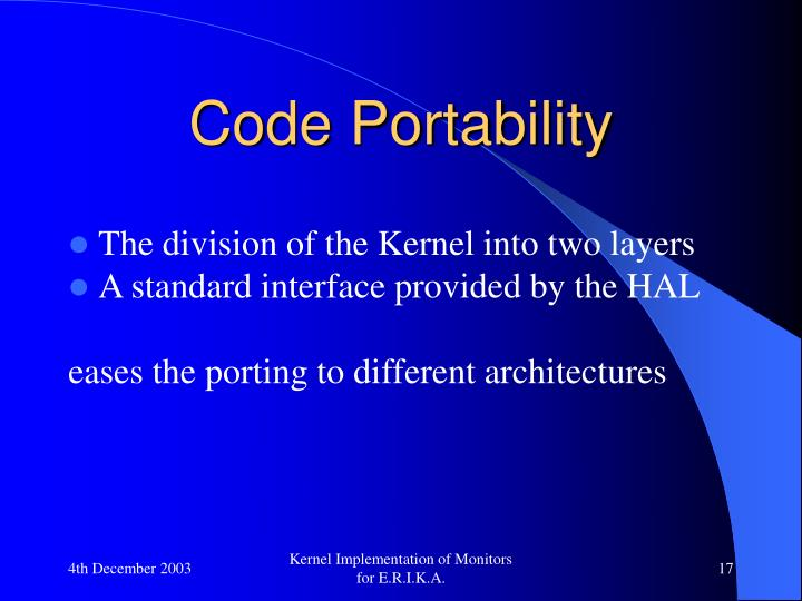 Code Portability