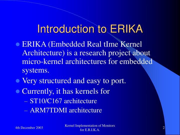 Introduction to erika