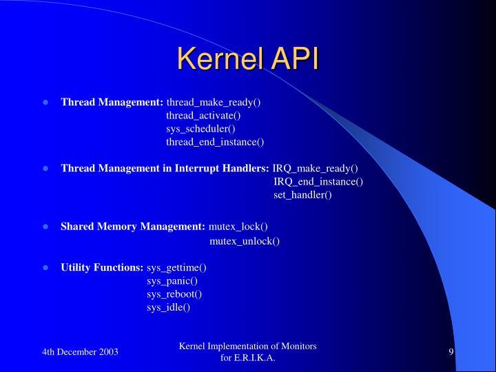 Kernel API