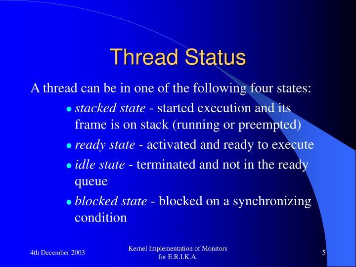 Thread Status
