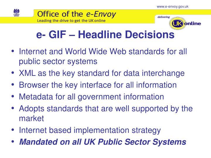 e- GIF – Headline Decisions