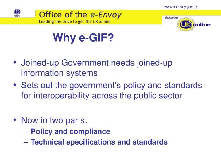 Why e-GIF?