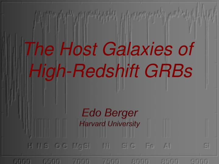 The Host Galaxies of