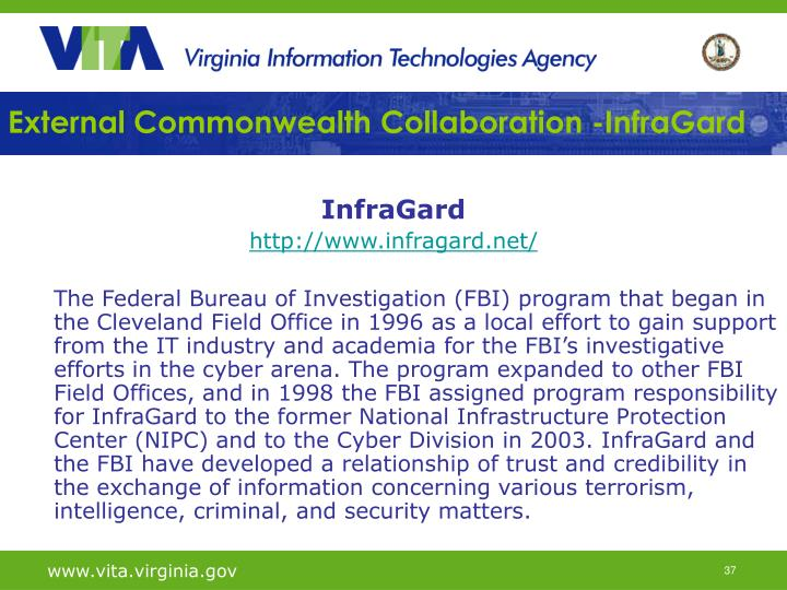 External Commonwealth Collaboration -InfraGard