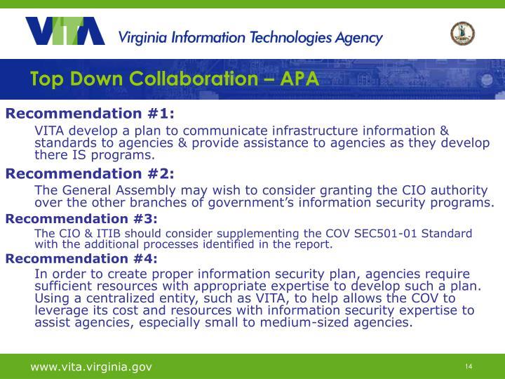 Top Down Collaboration – APA