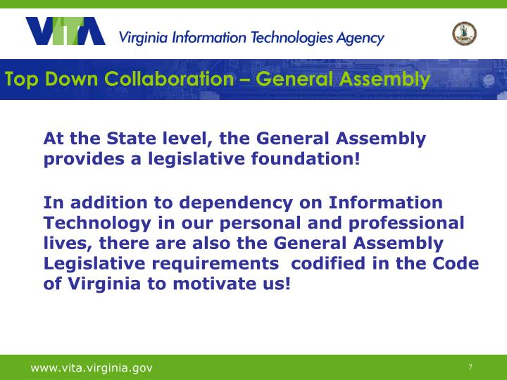 Top Down Collaboration – General Assembly
