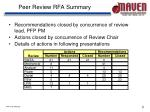 peer review rfa summary