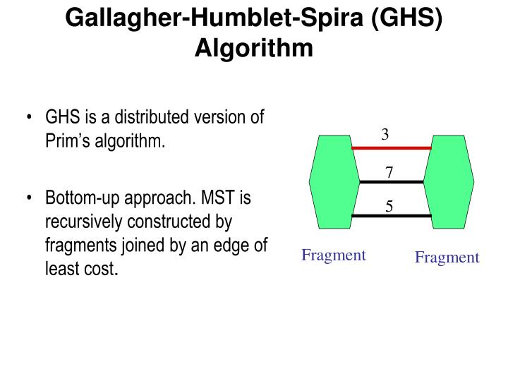 GHS is a distributed version of Prim's algorithm.