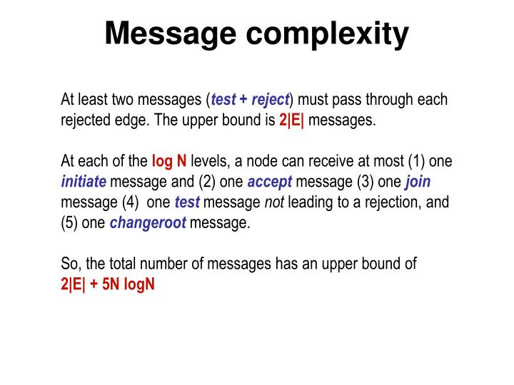 Message complexity