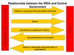 relationship between the irda and central government