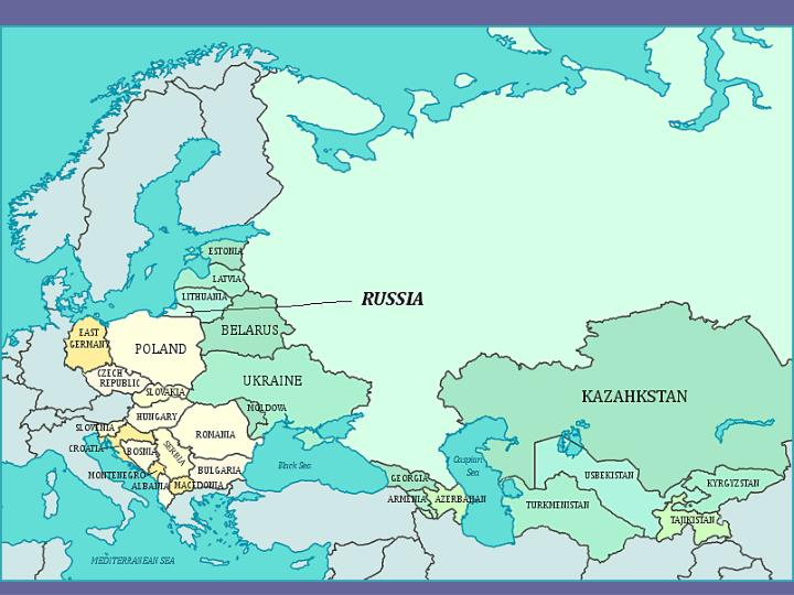 Modern-Day Russia and former countries