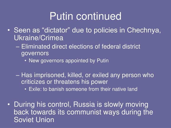 Putin continued