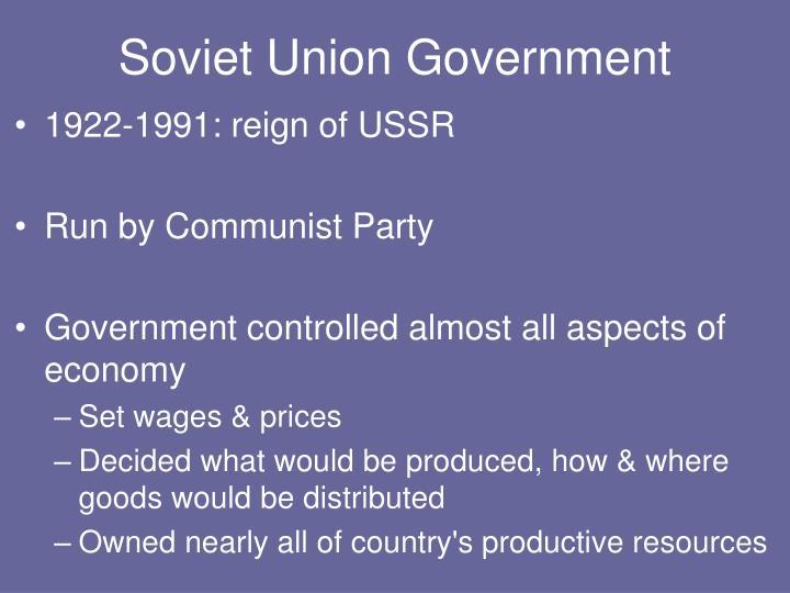 Soviet Union Government